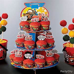 Cars Cupcake Tower How To - Party City
