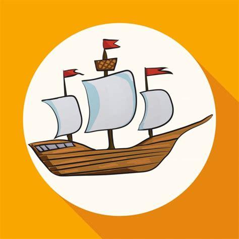 ᐈ Barcos dibujos de stock animado barco de kid de dibujos