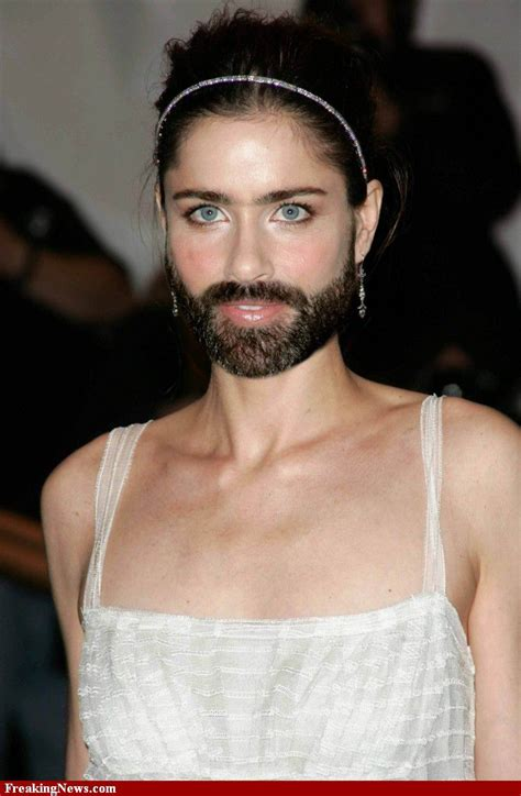 famous women sprout beards fun