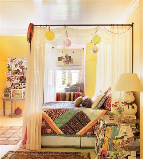 Bohemian Bedroom Inspiration Four Poster Beds With Boho