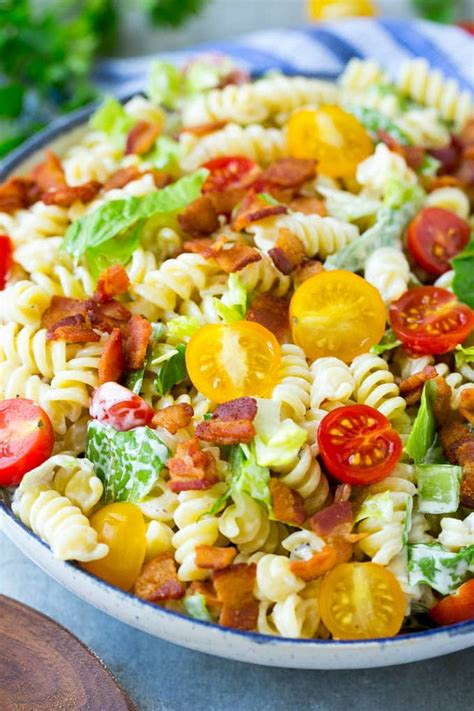 pasta salad side dish blt pasta salad dinner at the zoo