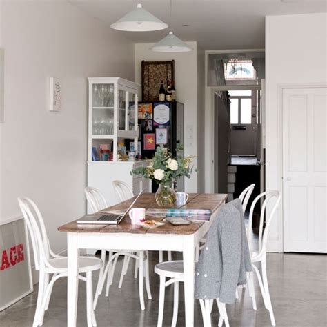 best floor for kitchen and dining room sleek white dining room dining room idea housetohome co uk
