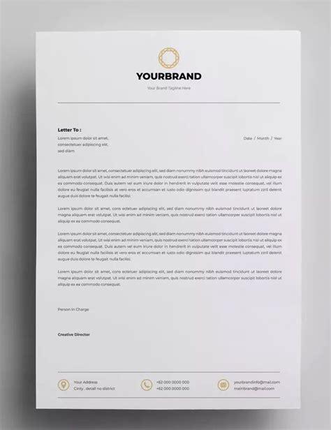 letterhead design templates ai eps  paper size