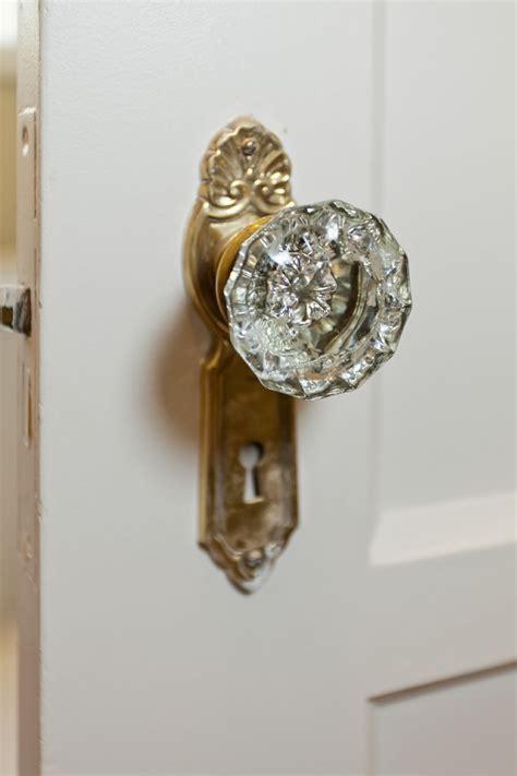 polished nickel hardware antique crystal door knobs