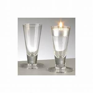 Porte Verre à Pied : bougeoir en verre conique avec pied hauteur 10 cm soledi ~ Dailycaller-alerts.com Idées de Décoration