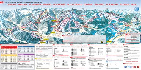 pistenplan salzburger sportwelt ski amade