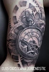 Tatouage Montre A Gousset Avant Bras : histoire et origine du tatouage horloge allotattoo ~ Carolinahurricanesstore.com Idées de Décoration