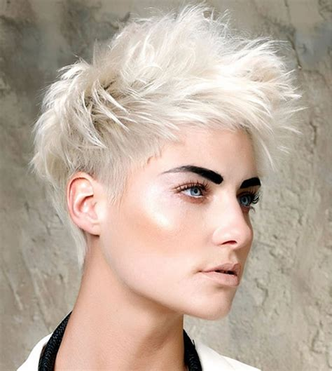messy blonde pixie cut hairstyles
