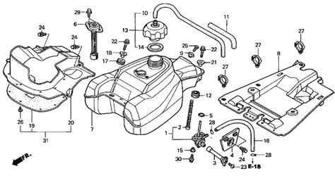honda recon carburetor hoses diagram