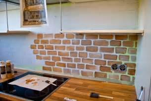 painted kitchen backsplash ideas remodelaholic tiny kitchen renovation with faux painted brick backsplash