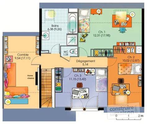 plan maison 5 chambres gratuit maison contemporaine 5 dé du plan de maison