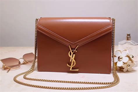 saint laurent ysl  cassandra monogram clasp bags  tan smooth leather unrbru replica