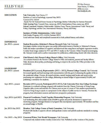 sample college graduate resume templates  ms