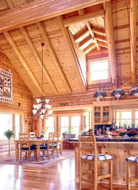 Open Cabin Log Home Open Floor Plan Log Homes Inside Out