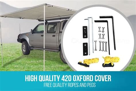 2.5m X 2m 4wd Waterproof Pull Out Car Awning Shade