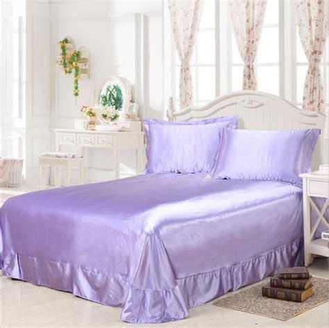smooth satin flat bed sheets size 1 3pcs