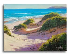 Beach Sand Dunes Oil Painting