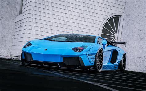 Beautiful Blue Car Wallpaper by Lamborghini Aventador Lp720 4 Liberty Lb Perfomance Blue