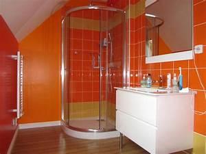 Salle De Bain Orange : emejing salle de bain orange et marron photos amazing house design ~ Preciouscoupons.com Idées de Décoration