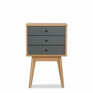 Meuble De Chevet : table de chevet scandinave skoll 3 tiroirs by drawer ~ Teatrodelosmanantiales.com Idées de Décoration