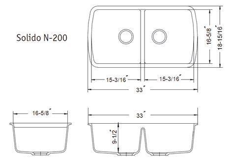 Standard Size Kitchen Sink Akomunncom
