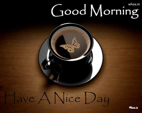 Have A Nice Day Good Morning With Black Cup Of Coffee Hd Coffee Creamers Individual Creamer Recipe Healthy Do Need That Are Pods In Landfill Environmentally Friendly Kanata Fit Nespresso Machine