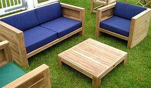 Wooden Garden Furniture With Small Coffe Table And Three