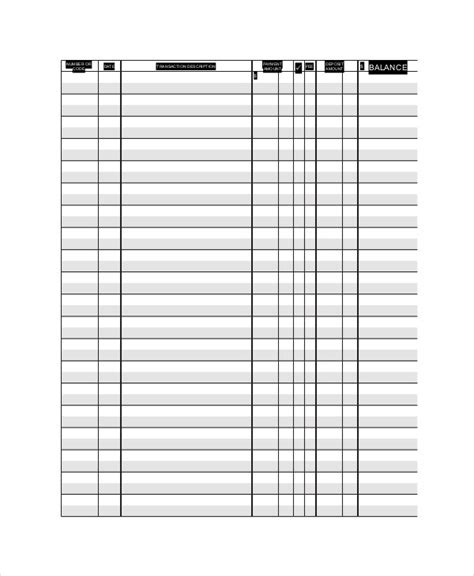 ledger paper template 7 free word pdf document