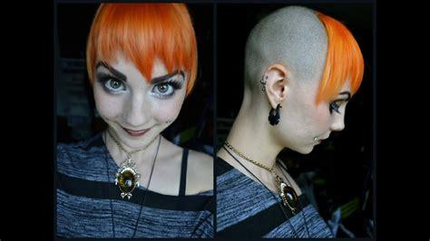 shaving part   head  dyeing  hair orange youtube