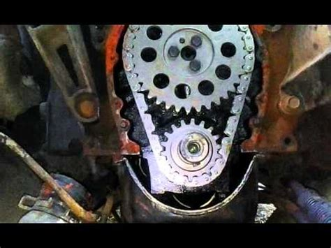 how to instal a timing chain cover 350 chevy