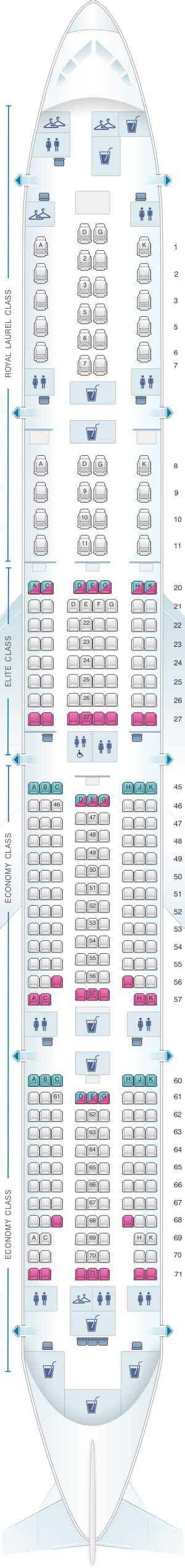 plan si es boeing 777 300er air seat map air boeing b777 300er 313pax seatmaestro