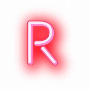 Letterhead red neon letter r - Transparent PNG & SVG vector