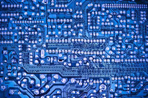 Blue Circuit Board Stock Photo Image Component Design