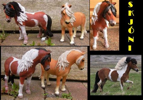 paint  schleich icelandic mare  custom horse