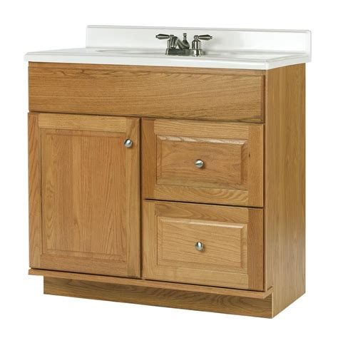 shop allen roth castlebrook honey bathroom vanity