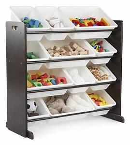 Tot, Tutors, Kids, Toy, Storage, Organizer, With, 12, Plastic, Bins, Espresso, White, Espresso, Collection