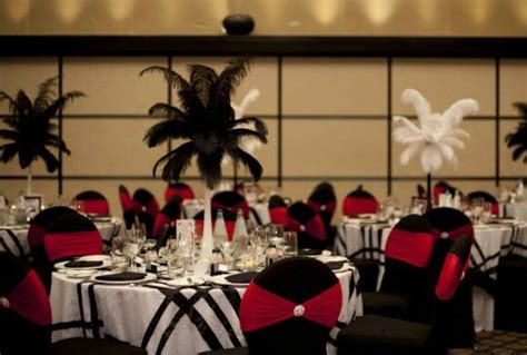 red black and white wedding reception ideas red black and white tables decorated chairs ostrich