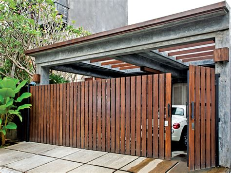 desain pagar kayu kreatif  menarik rumah impian