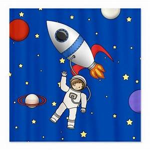 Cute Space Walk Astronaut Shower Curtain | Cartoon ...