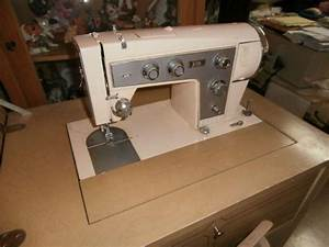 Sears Kenmore Sewing Machine Plus Blonde Cabinet And Chair