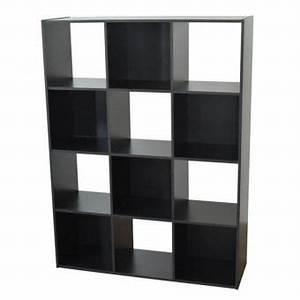 Cube Etagere Bois : etag re cube en bois h123 l92cm 12 niches compo noir achat prix fnac ~ Teatrodelosmanantiales.com Idées de Décoration