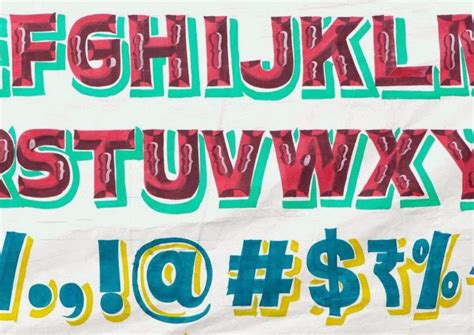 expresh letters blog sign painting aphabets  india