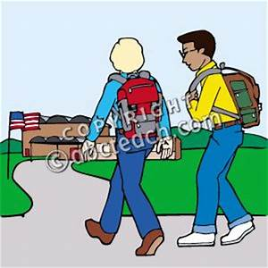 Walking Home From School Clipart - ClipartXtras