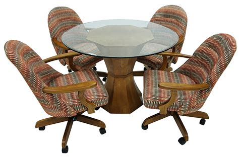 dining table with rolling chairs 236caster 42hourglass 236 caster chairs hour glass table