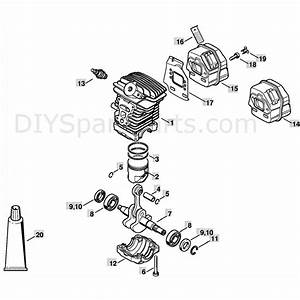 Stihl Ms 211 Chainsaw  Ms211c  Parts Diagram  Cylinder