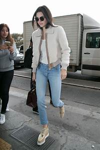 Kendall Jenner Casual Style - Going to Lunch in Paris October 2015