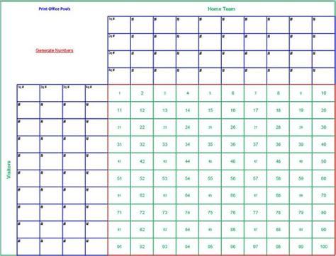 football squares template pdf free 6 blank printable football squares template