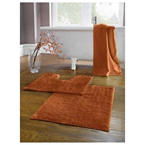 Burnt Orange And Brown Bathroom Rugs by Buy Tesco Pedestal And Bath Mat Set Burnt Orange From Our