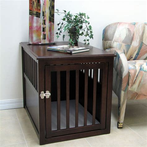 Crown Pet Wood Dog Crate  Espresso Baxterboo
