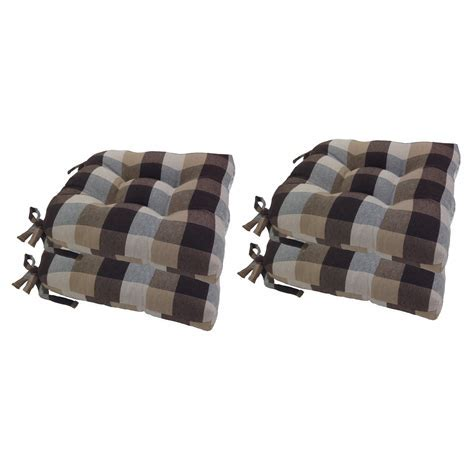 Arlee 16 x 16 in. Buffalo Check Woven Plaid Chair Pad